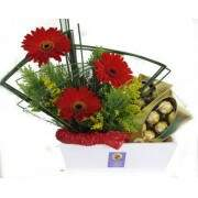 Gerberas e chocolates