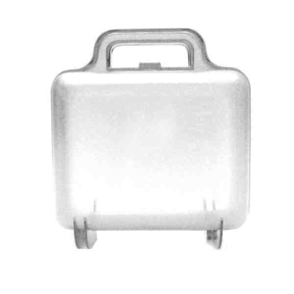 maleta acrilico 14,0 x 13,0 x 7,0 cm - crista ( cx c/18
