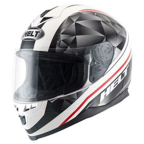 Capacete Helt New Race Carbo White