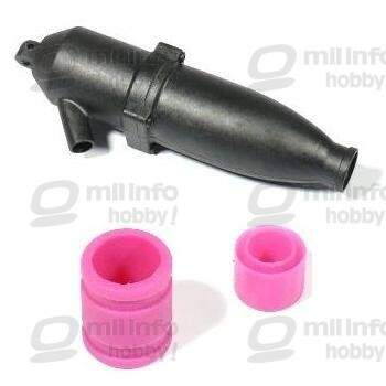 #02026 - Exhaust Pipe + #02027 / #02172 - Exhaust Silicon Rubber Pipe