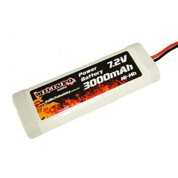 Pack Bateria Recarregável NiMh 7,2V / 3000mAh - Power Battery Milinfo Hobby