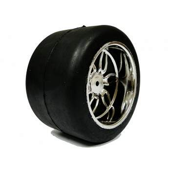 Conjunto de Rodas Cromada Monster/Pneu Slick S128 14mm