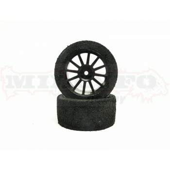 Par de Rodas Stock/Pneu Espuma - Tire Shore 40 - 25mm - SF201 SintecRC