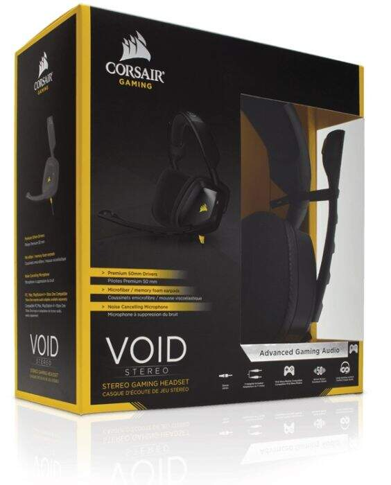 Fone Corsair Gaming Void 2.0 Stereo Preto CA-9011131-NA