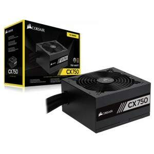 Fonte Corsair ATX CX750 750W Reais 80 Plus Bronze - CP-9020015-WW
