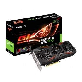 Placa de Video VGA GigaByte GTX 1070 G1 Gaming 8GB GDDR5 GV-N1070G1 GAMING-8GD