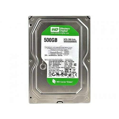 HD Western Digital 500gb Sata3 7200rpm Green Power WD5000AVVS