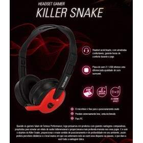 # BLACK NOVEMBER # Fone Dazz Gaming Killer Snake USB Compatível com PS3/PS4 - 624690