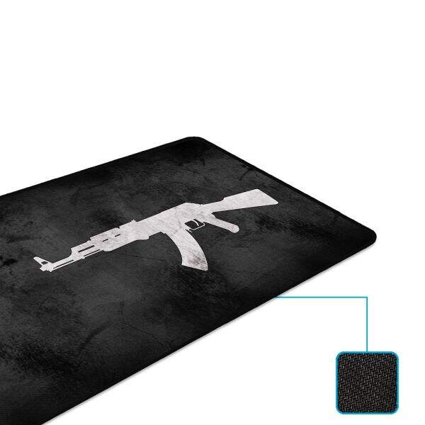 # BLACK NOVEMBER # MousePad Rise Gaming AK47 Extended Bordas Costuradas - RG-MP-06-AK