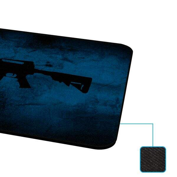 MousePad Rise Gaming M4A1 Médio Bordas Costuradas - RG-MP-04-M4A