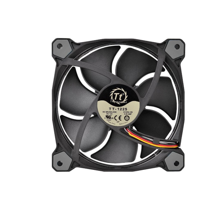 Kit 3 Unidades Cooler FAN Thermaltake Riing 12 Fan Led White1500RPM CL-F055-PL12WT-A