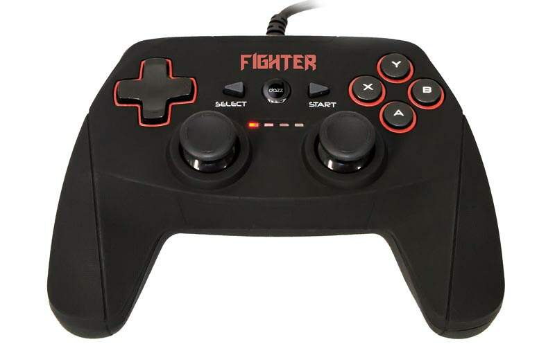 Controle Dazz Dualshock Fighter p/ PC & PS3 USB 62-339-7