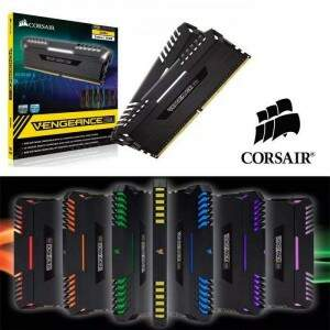 Memória Corsair Vengeance LED RGB 16GB (2x8GB) 3000Mhz DDR4 CL16 Black - CMR16GX4M2D3000C16