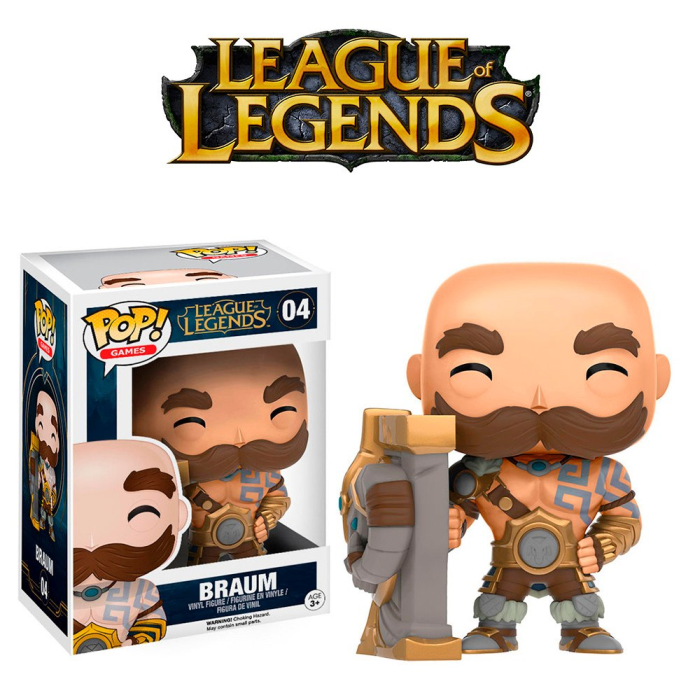Boneco Funko Pop - League Of Legends - Braum - 04