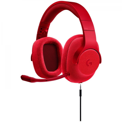 Fone Logitech G433 USB 7.1 Surround Gaming - Red Edition