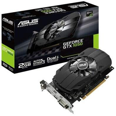 Placa de Vídeo VGA NVIDIA Asus Geforce GTX 1050 2GB GDDR5 - PH-GTX1050-2G