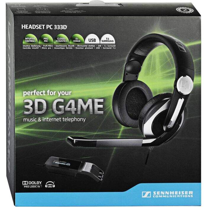 Fone Gamer Sennheiser PC333D Dolby 7.1 Surround