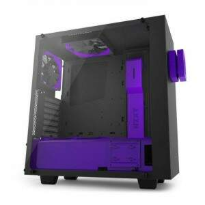 Gabinete NZXT Mid Tower S340 Elite Purple Lateral em Vidro Temperado VR Ready CA-S340E-BP