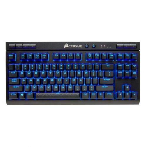 Teclado Corsair Gaming K63 Wireless Cherry Red e Led Blue NA - CH-9145030-NA