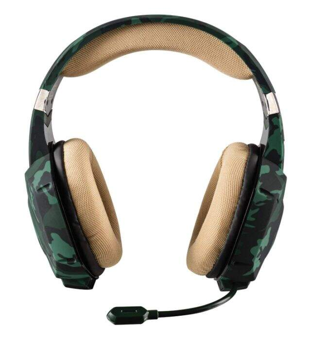 Fone Trust Gamer GXT 322C Carus Jungle Camo - Ps4 / Xbox One / Pc