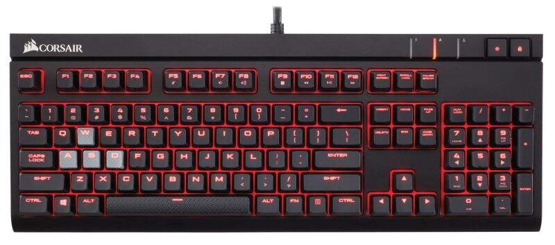 **OPENBOX** Teclado Corsair Gaming Strafe Cherry Red ABNT2 CH-9000088-BR