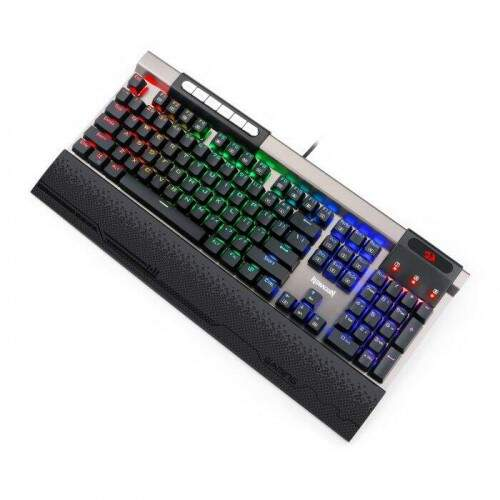 Teclado Gamer Redragon Mecânico SURYA K563 RGB Switch Blue