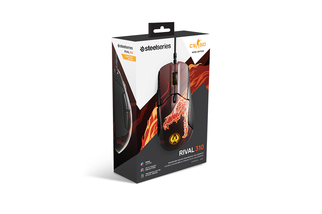 Mouse SteelSeries Rival 310 CS:GO HOWL Edition TrueMove3 12000cpi - 62434