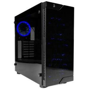 Gabinete Gamer Rise Mode Glass 02 RM-CA-02-BB Vidro Temperado c/ 4 Fans Led Azul