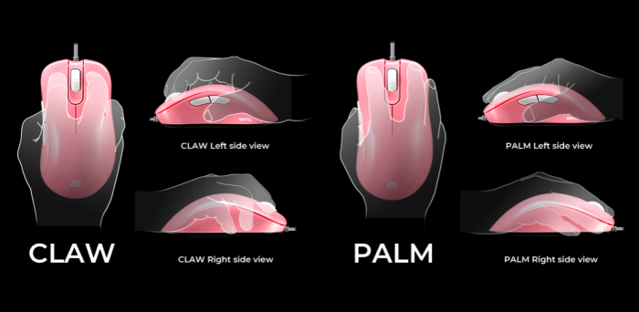 Mouse Zowie Gear EC1-B USB Divina Pink Edition - PMW 3360