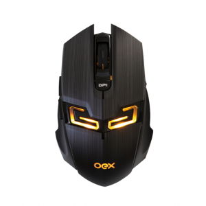 Mouse OEX Gaming Killer MS312 4000dpi Aço Escovado