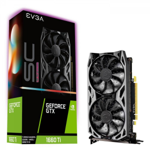 Placa de Vídeo EVGA GeForce GTX 1660 Ti SC Ultra Gaming, 6GB, GDDR6 - 06G-P4-1667-KR