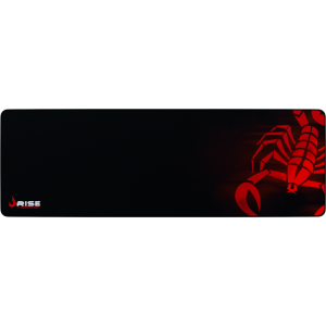 MousePad Rise Gaming Scorpion Red Extended Bordas Costuradas - RG-MP-06-SR