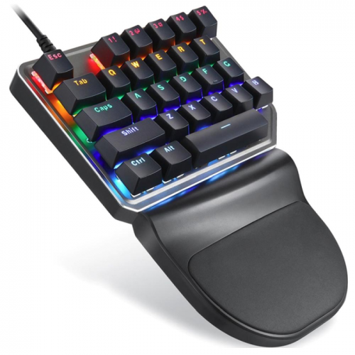 Teclado Gamer Mecânico Motospeed K27 Game Pad Switch Outemu Blue c/ Leds Rainbow