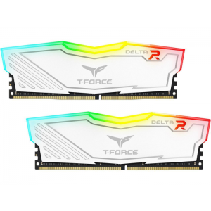 Memória Team T-Force Delta II RGB Series 16GB (2 x 8GB) 3000Mhz DDR4 CL16 White - TF4D416G3000HC16CDC01