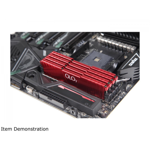 Memória Gamer OLOy 16GB (2x8GB) 2400Mhz DDR4 CL17 Red - MD4U082417IFDA