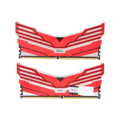 Memória Gamer OLOy WarHawk RGB 16GB (2x8GB) 3200Mhz DDR4 Intel/AMD Ready CL16 Red - MD4U083216BCDA