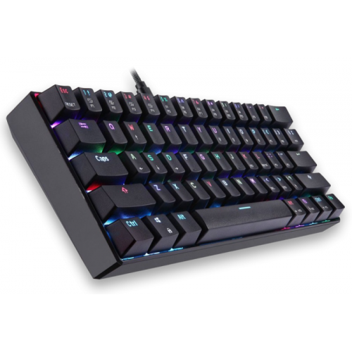 Teclado Gamer Mecânico Motospeed CK61 Preto Switch Kailh Box White c/ Led RGB
