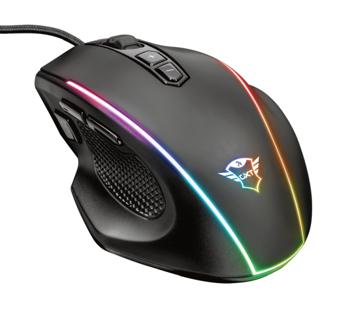 Mouse Trust Gamer GXT 165 Celox Illuminated RGB 10.000 DPI