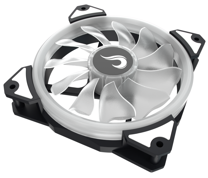 Cooler Fan Rise Mode Galaxy G1 com Led Branco, 120mm - RM-FN-01-BW