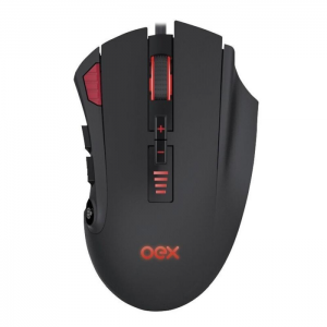 Mouse Gamer OEX Strike 10000 Dpi Óptico Led Rgb 12 Botões Ms315