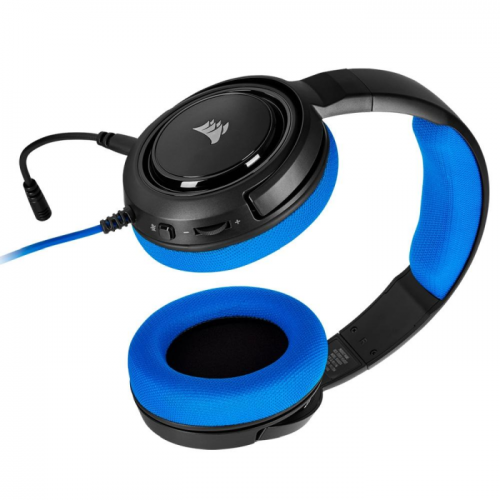 Fone Gamer Corsair HS35 Azul Stereo Drivers 50mm - CA-9011196-NA