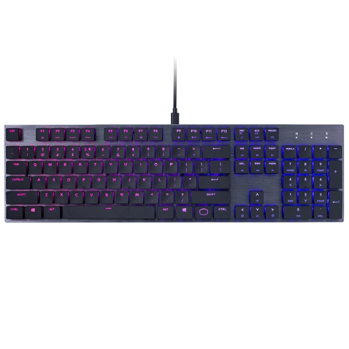 Teclado Gamer Mecânico Cooler Master SK650 RGB Switch Cherry MX Low Profile RGB - SK-650-GKLR1