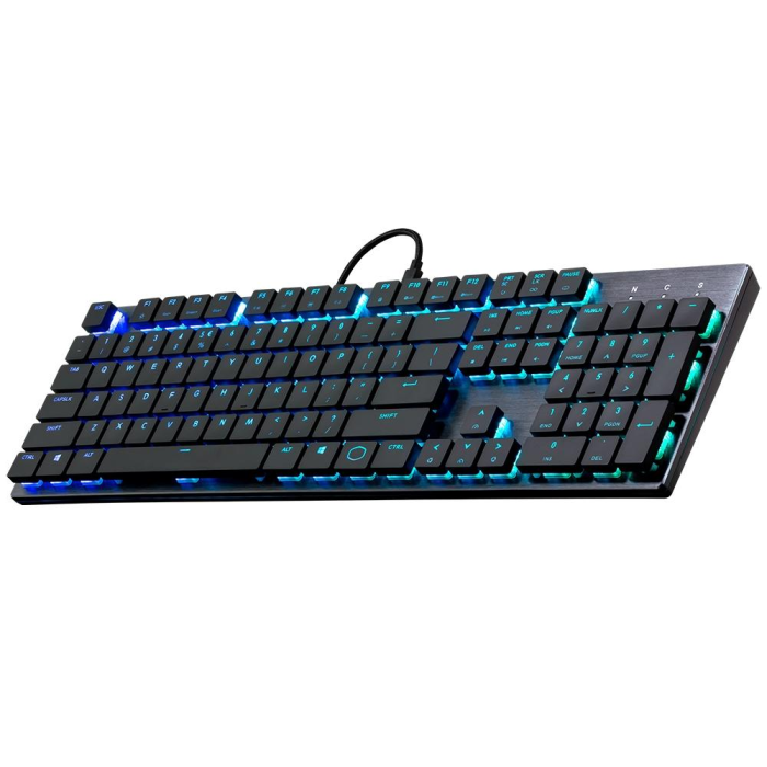 Teclado Gamer Mecânico Cooler Master SK650 RGB Switch Cherry MX Low Profile RGB ABNT2 - SK-650-GKLR1