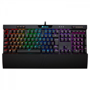 Teclado Gamer Mecânico Corsair K70 MK.2 Rapidfire RGB Switch Cherry MX Low Profile Speed ABNT2 - CH-9109018-BR