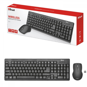 Kit Teclado e Mouse Trust Ziva Wireless T22542 ABNT2