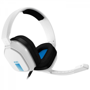 Fone Gamer Astro A10 Headset Branco e Azul - PS4, PC, XBOX ONE, MAC, SWITCH - 939-001853