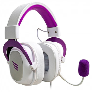 Fone Gamer Fallen Morcego Branco e Roxo USB Surround Virtual 7.1 Drivers 53mm
