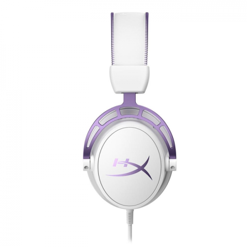 Fone Kingston HyperX Cloud Alpha Purple Branco e Roxo - HX-HSCA-PL