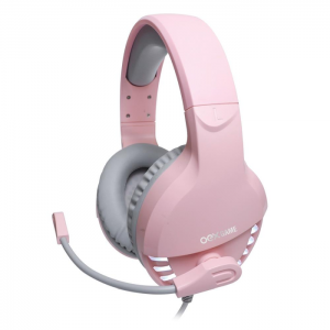 Fone OEX Game Pink Fox USB 7.1 Surround Drivers 50mm Rosa - HS414