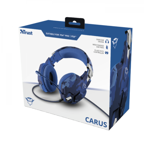 Fone Trust Gamer GXT 322B Carus Blue PS4 Edition - Ps4 / Xbox One / Pc